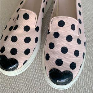 Rare Hogan pink black dots canvas sneakers